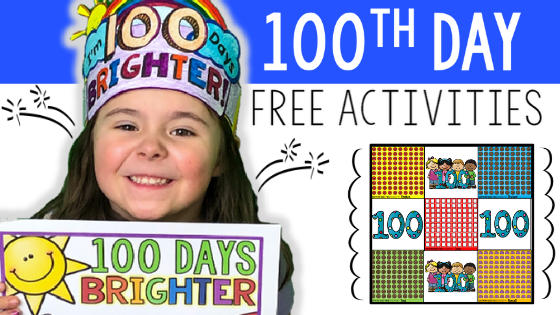100th day, hundredth day, hundred days, 100 days, primary, classroom, teacher, teaching, Teacher Toni, pre-k, pre-kindergarten, kindergarten, first grade, second grade, classroom activities, free primary activities, printable
