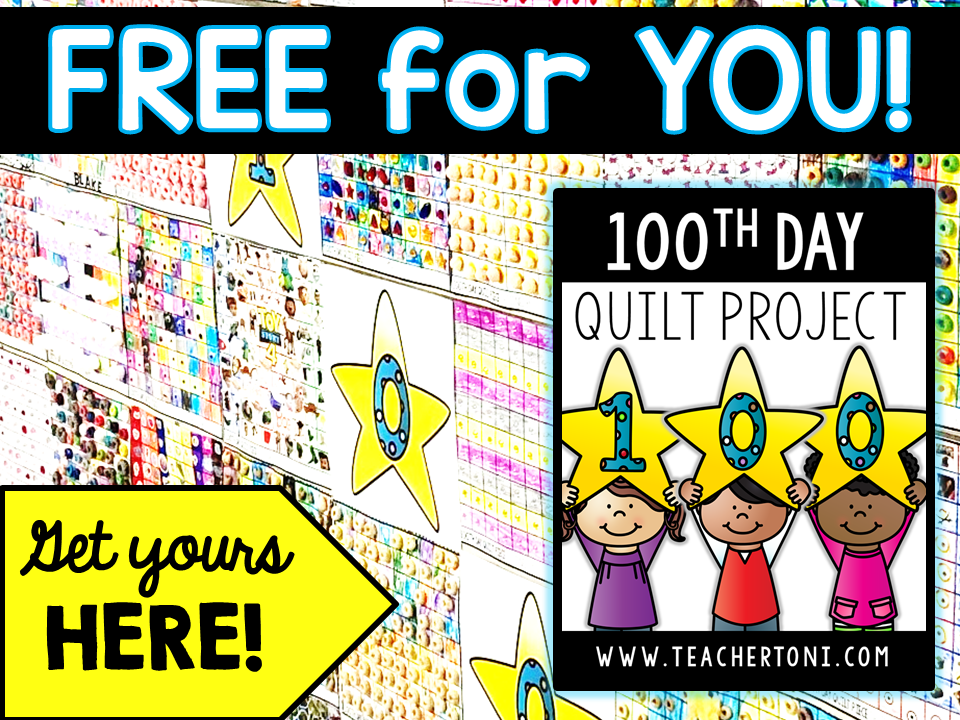 100th day project activity quilt free