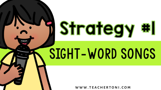 how to teach sight words activities strategies sight word motions signals for kindergarten first second grade sight word songs singing sight words