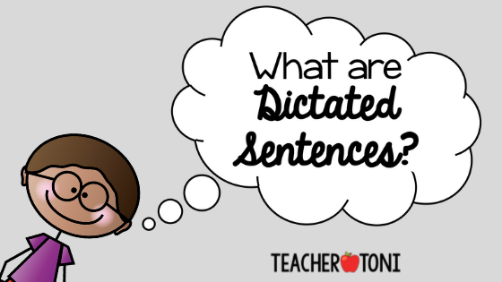 what are dictated sentences
