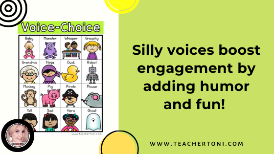 sight word silly voices voice choice board fluency student kindergarten first second grade sight word practice ideas