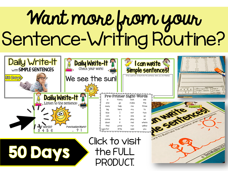 Simple Sentences Writing
