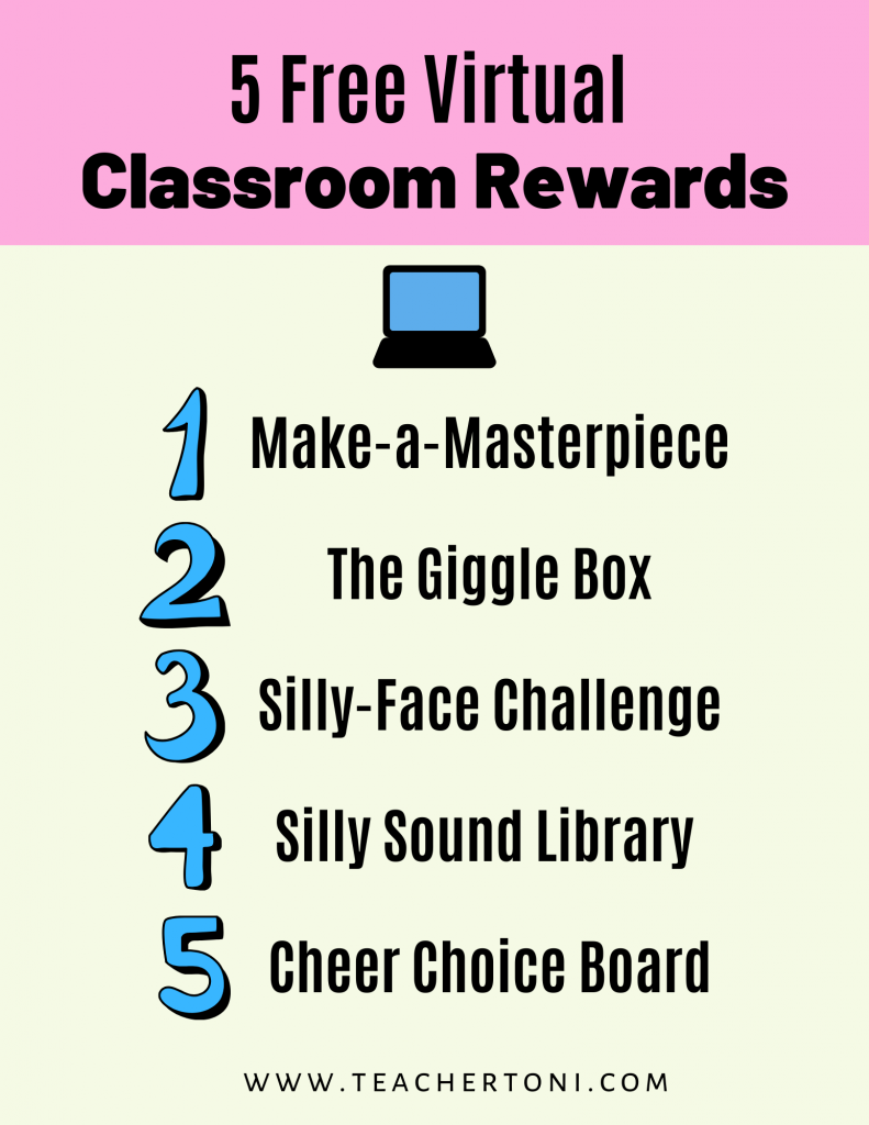 free virtual classroom rewards distant learning incentives engagement Kindergarten First Grade Second Grade