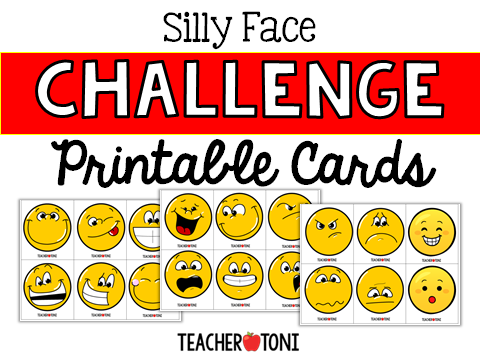 silly face challenge free virtual classroom rewards distant learning incentives engagement Kindergarten First Grade Second Grade