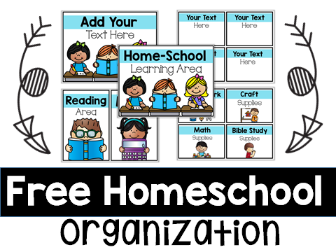 how to Homeschool tips strategies ideas free schedule organization help teaching at home parent family home school supply labels