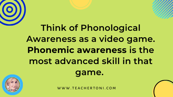 Phonemic Awareness what is phonological awareness phonics how to teach v. kindergarten first grade second professional development difference between phonics video free reading syllables sounds phonemes concept of word part of spoken language graphic phonological v. phonemic awareness
