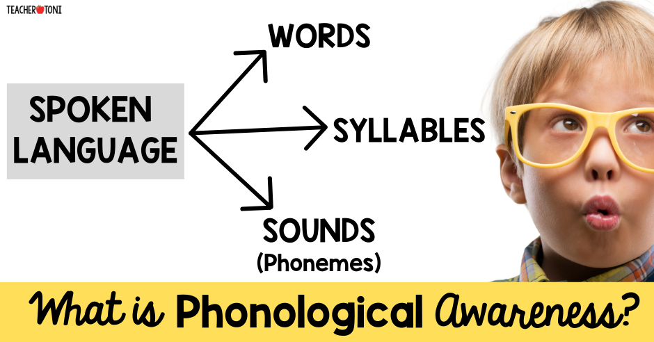 Phonological Awareness what is phonemic awareness phonics how to teach v. kindergarten first grade second professional development difference between phonics video free reading syllables sounds phonemes concept of word part of spoken language graphic
