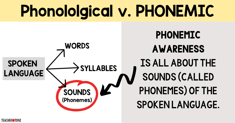 define Phonemic Awareness what is phonological awareness phonics how to teach v. kindergarten first grade second professional development difference between phonics video free reading syllables sounds phonemes concept of word part of spoken language graphic