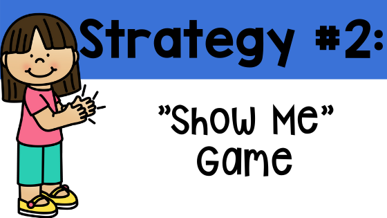 active learning strategy 2 Show Me game, how to play Show Me game, Dr. Jean Feldman active learning strategies definition primary pre-k kindergarten first grade second grade students teacher classroom school Teacher Toni Toni Mullins what is active learning active learning games virtual learning distance learning