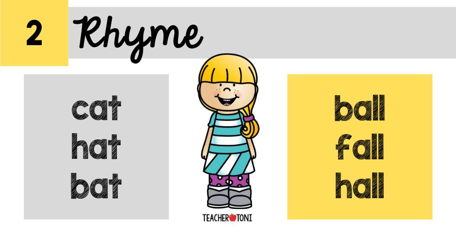 phonological awareness skills spoken word rhyme syllable phoneme manipulation primary education classroom teacher literacy kindergarten pre-k prekindergarten preschool first grade second grace