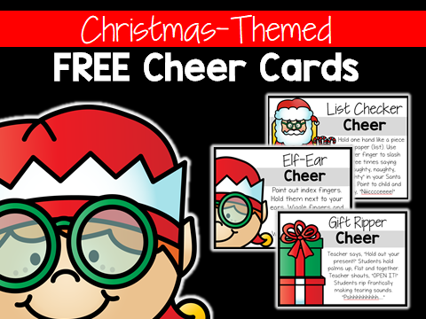 Christmas Cheer Cards Classroom Cheers Christmas Activities for Kindergarten First Grade Second Grade