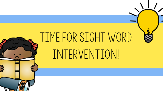 sight word, sight word intervention, sight word RTI, what to do if students are behind in sight words, learning styles, visual, auditory, kinesthetic, primary, first grade, second grade, kindergarten, Teacher Toni