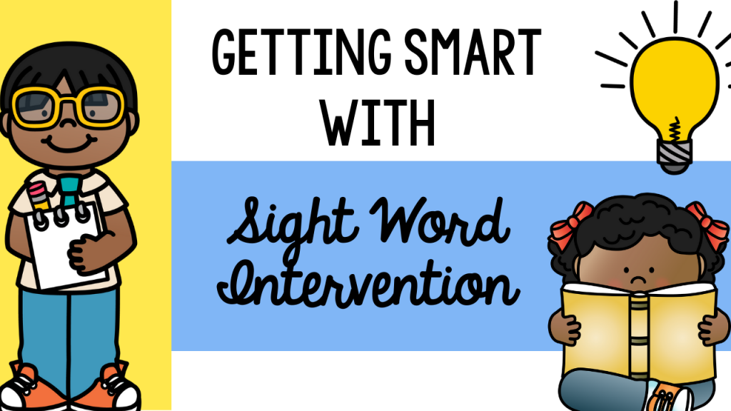 sight word, sight word intervention, sight word RTI, what to do if students are behind in sight words, learning styles, visual, auditory, kinesthetic