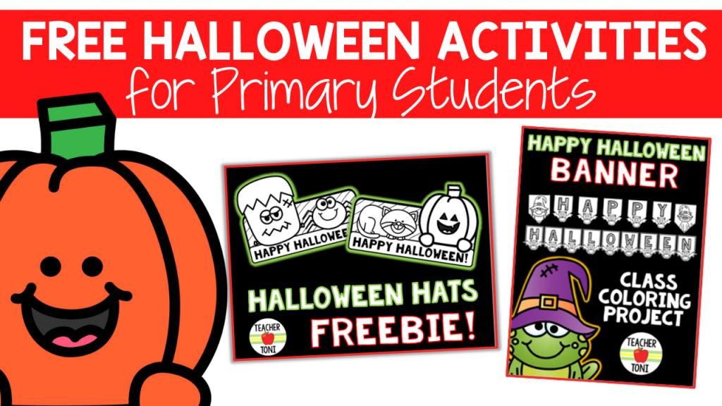 Free Halloween Printables Activities 1st Grade 2nd Grade Kindergarten Printables Hat Template Coloring Pages Halloween Banner Spider Hat Frankenstein Hat Frog Punpkin Freebie Resource