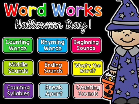Free Halloween Printables Activities 1st Grade 2nd Grade Kindergarten Printables No Prep Hat Template Coloring Pages Halloween Banner Spider Hat Frankenstein Hat Frog Pumpkin Freebie Resource for Kids for Teachers for the Classroom Halloween Party Celebration coloring sheets class project DIY Word Works Daily Phonological Awareness Phonemic Awareness Rhyming Words Counting Sounds Decoding Punctuation Phoneme Blending Middle Sounds Syllables