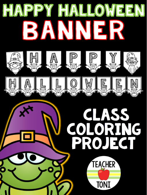 Free Halloween Printables Activities 1st Grade 2nd Grade Kindergarten Printables No Prep Hat Template Coloring Pages Halloween Banner Spider Hat Frankenstein Hat Frog Pumpkin Freebie Resource for Kids for Teachers for the Classroom Halloween Party Celebration coloring sheets class project DIY